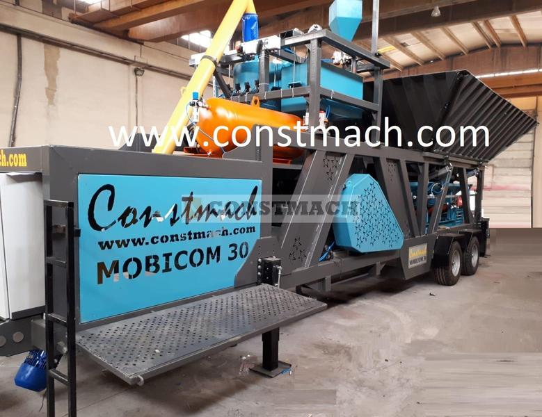 Constmach 30 m3/h MOBILE & COMPACT CONCRETE BATCHING PLANT -